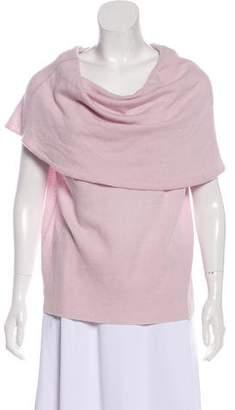 Halston Sleeveless Cowl Neck Sweater