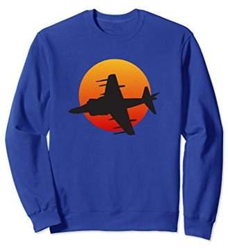 Harrier Jump Jet Aircraft Military History Sweatshirt