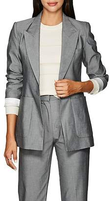 LES COYOTES DE PARIS Women's Harley Plain-Weave One-Button Blazer - Gray