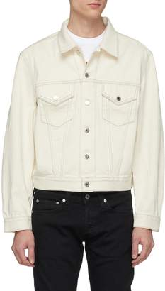 Helmut Lang 'Masc Trucker' contrast topstitching denim jacket