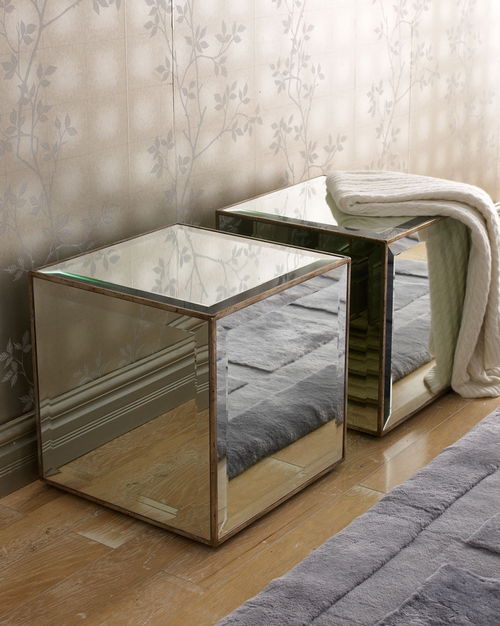 John-Richard Collection Mirrored Cube, Each