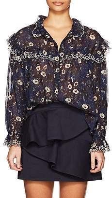 Etoile Isabel Marant Women's Elmira Floral Cotton Voile Blouse