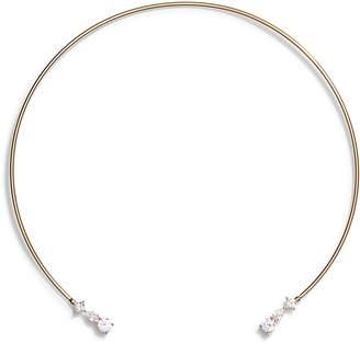 Nordstrom Cubic Zirconia Open Collar Necklace