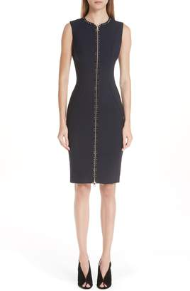 Versace Studded Zip Front Dress