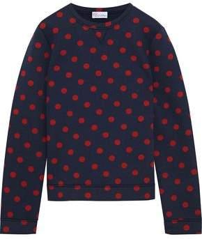 RED Valentino Polka-Dot Cotton-Jersey Sweatshirt