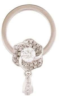 18K Diamond Flower Pendant