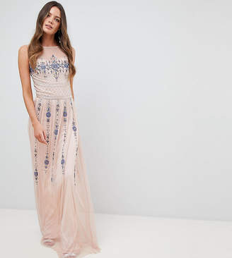 Frock and Frill Tall Frock And Frill Tall Premium All Over Embellished Maxi Dress