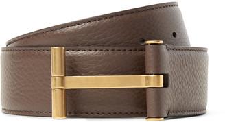 4cm Brown Full-Grain Leather Belt