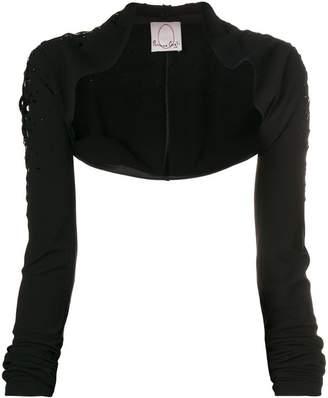Romeo Gigli X Eggs fitted bolero jacket