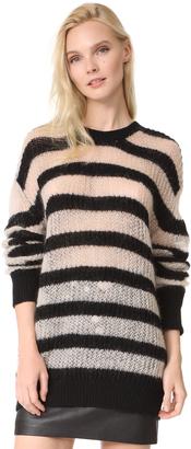 McQ - Alexander McQueen Stripe Crew Sweater $350 thestylecure.com