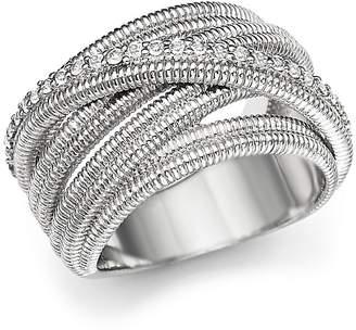 Judith Ripka Multi Band Mercer Wrap Ring with White Sapphire