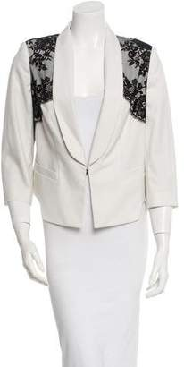 Robert Rodriguez Lace-Embellished Blazer w/ Tags