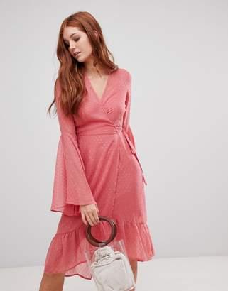 Vero Moda flared sleeve boho dress
