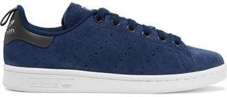 adidas Originals - Stan Smith Suede Sneakers - Storm blue $85 thestylecure.com