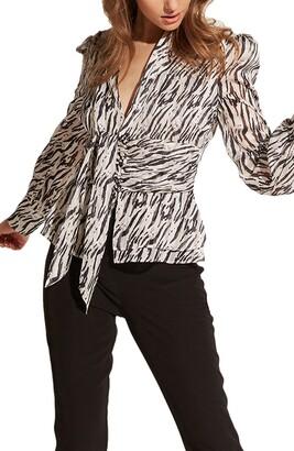 Bardot Zebra Print Top