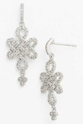 Freida Rothman Love Knot Drop Earrings
