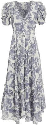 LoveShackFancy Andy Voile Floral Dress