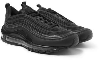 Nike Air Max 97 Faux Leather And Mesh Sneakers - Black