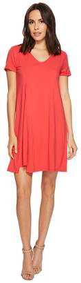 Mod-o-doc Cotton Modal Spandex Jersey Slit Front T-Shirt Dress Women's Dress
