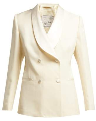 Giuliva Heritage Collection - Dorothea Double Breasted Wool Crepe Jacket - Womens - Ivory