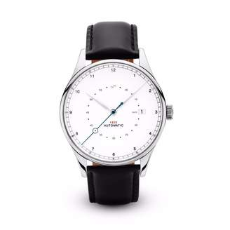 About Vintage - 1820 Automatic Pure Steel with Black Strap