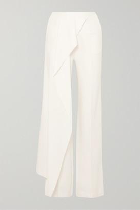 Roland Mouret Draped Crepe Wide-leg Pants - White