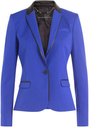 Barbara Bui Wool Blazer with Leather