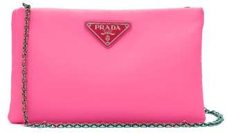 Prada Neon Padded Clutch - Womens - Pink