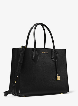 Michael Kors Mercer Large Pebbled Leather Accordion Tote Bag