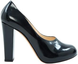 Carven Black Leather Heels