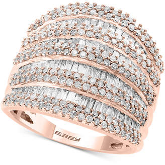 Effy Diamond Multi-Row Statement Ring (1-3/4 ct. t.w.) in 14k White, Yellow and Rose Gold