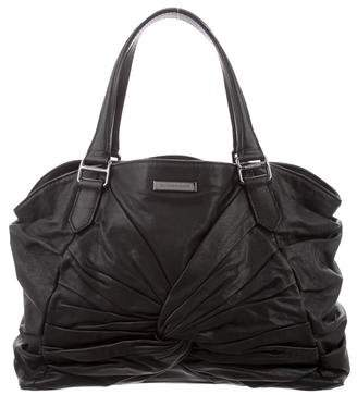 Burberry Ruched Leather Tote