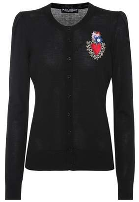Dolce & Gabbana Embellished wool-blend cardigan