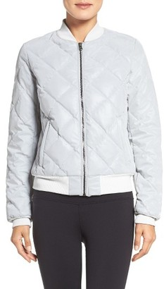 Women's Alo Reflective Bomber Jacket $345 thestylecure.com