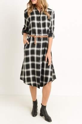 Gilli Plaid Shirt Dress