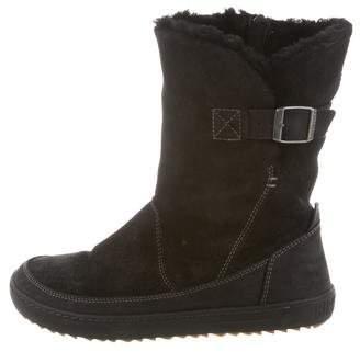 Birkenstock Round-Toe Suede Boots
