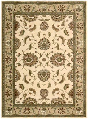 """Nourison Closeout! Round Area Rug, Somerset Collection ST60 Tabriz Ivory 5'6"""""""