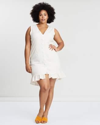 Rochelle Button Front Gingham Dress