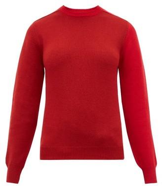 Sara Lanzi Patchwork Merino Wool Blend Sweater - Womens - Red