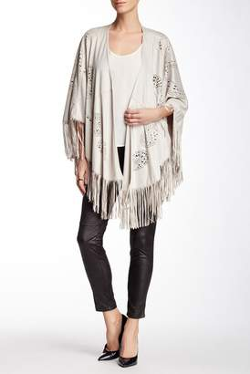Insight Fringe Faux Suede Cape