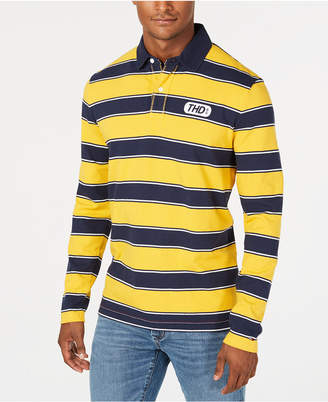 Tommy Hilfiger Men's Custom Fit Striped Long-Sleeve Polo