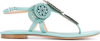 Unützer laser cut detail sandals