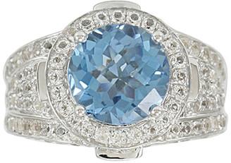 LeVian Suzy Diamonds Suzy Silver 7.25 Ct. Tw. Diamond & Topaz Ring