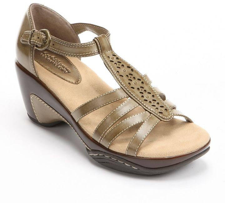 JLO by Jennifer Lopez Croft and barrow sole (sense)ability wedge sandals - women