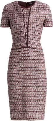 St. John Multi Textured Inlay Knit Dress
