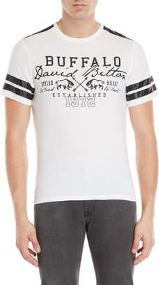 Buffalo David Bitton Nadyji Faux Leather Stripe Tee