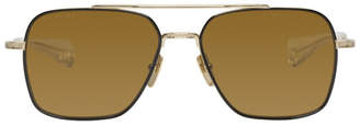 Dita Black and Gold Flight-Seven Sunglasses