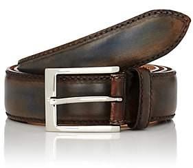 Harris Men's Burnished Leather Belt-Turquoise