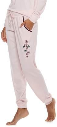 Gloria Vanderbilt Women's Embroidered Jogger Pajama Pants