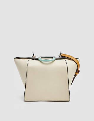 Danse Lente Adele Leather Handbag in Marshmallow/Pumpkin